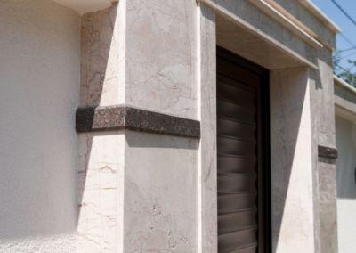 Gard din piatra naturala. Marmura Crema nova -2cm -lustruit