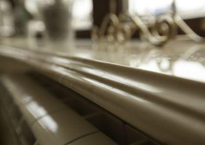 Изготовление мраморных подоконников. Crema Marfil -2cm -lustruit
