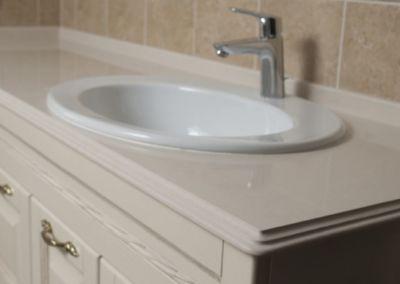 Кварцевая столешница в ванную Corda -2cm, lustruit