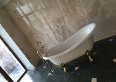 Мраморная плитка в ванной Verde Guatemala, Breccia Sarda - 2cm - lustruit (2)