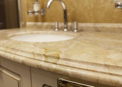 Мраморная столешница в ванной Breccia Oniciata -3cm (2)