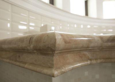 Мраморная столешница в ванной Breccia Oniciata -3cm (3)