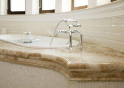 Мраморная столешница в ванной Breccia Oniciata -3cm (5)