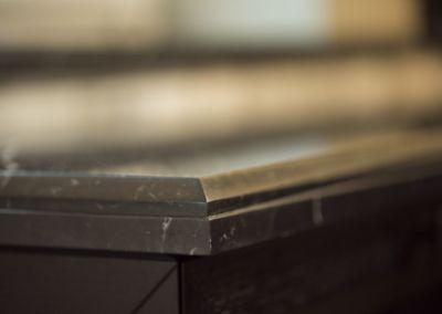 Мраморные подоконники - Nero Marquina - brushed, antic - 2cm (2)