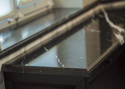 Мраморные подоконники - Nero Marquina - brushed, antic - 2cm (3)