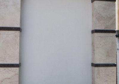 Забор из натурального камня. Мрамор Crema nova -2cm -lustruit