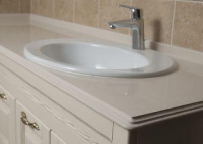 Blat de baie din cuarț lustruit Corda -2cm
