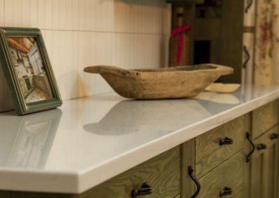 Blat de bucatarie din cuarț lustruit Lyscamm, 2 cm( showroom Damascan)