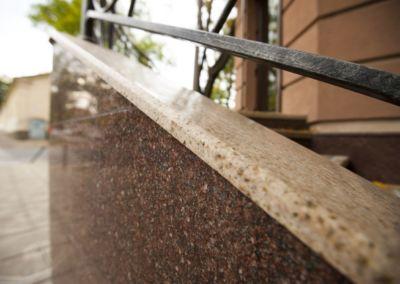Piatra pentru soclu. Granit exterior G681, Imperial Red, mixt-2cm полированный(3)