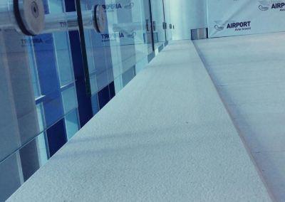 Scari din piatra artificiala Lapitec Bianco Crema -2cm -dune (Aeroport Chisinau)